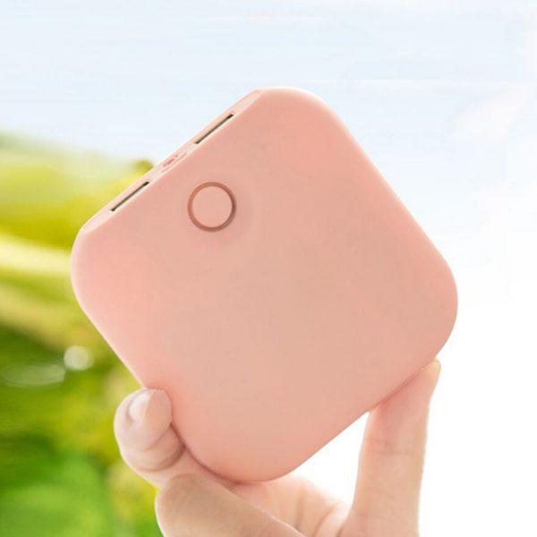 粉色磨盒充电宝