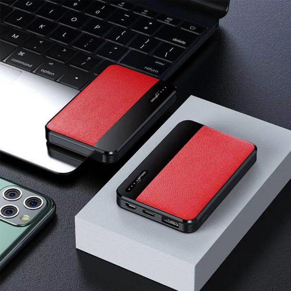 红色贴皮充电宝