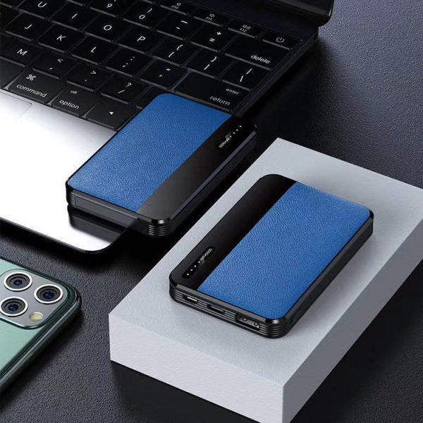 蓝色贴皮充电宝
