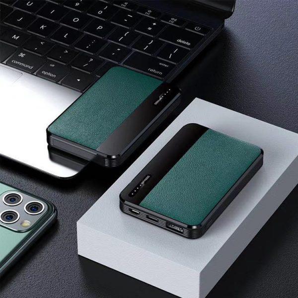 绿色贴皮充电宝