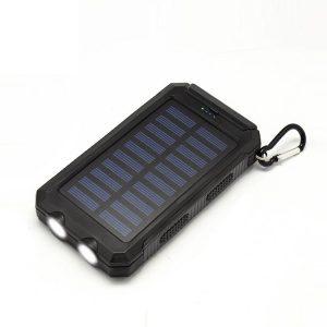 黑色太阳能充电宝